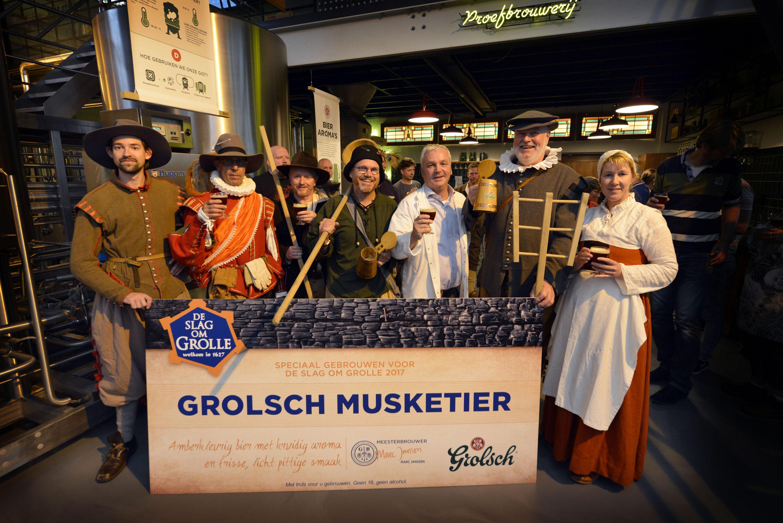 Nieuw speciaalbier Grolsch Musketier exclusief verkrijgbaar bij Slag om Grolle 2017