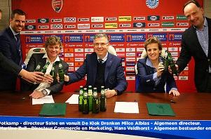 Grolsch/De Klok Dranken en de Graafschap tekenen nieuwe partnership overeenkomst