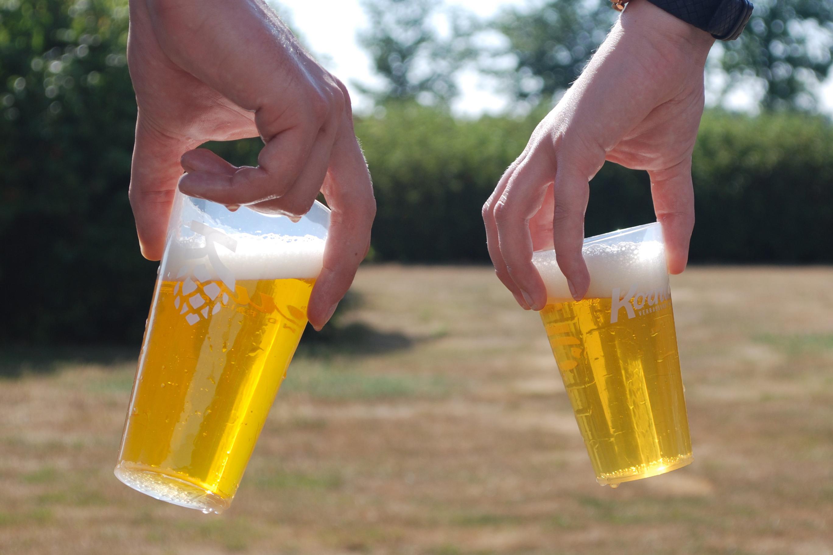 Kornuit start met circulaire drinkbekers op festivals
